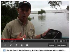Gerard Braud Media Training and Crisis Communication with IPad IPhone