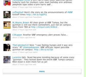 USF cynic on false alarm
