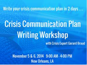 Crisis communication workshop gerard braud