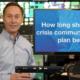 How long should a crisis plan be Gerard Braud
