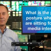 media interview proper posture