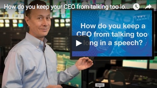 how to keep a ceo from talking too long in a speech