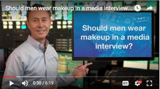 should men wear makeup in a media interview gerard braud