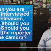 Should you look at the reporter or the camera? - Gerard Braud
