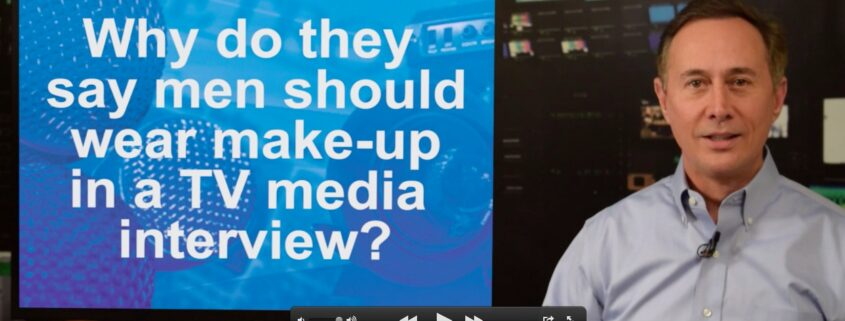 Men Makeup TV interview - Gerard Braud