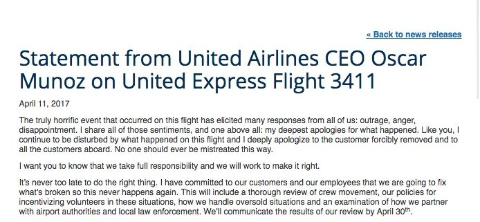 United Apology Statement