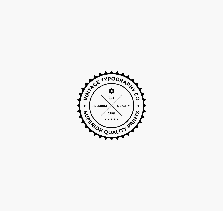 Vintage typography logo