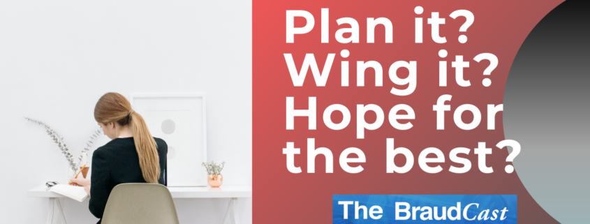 Plain it Wing it Hope for the best