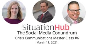 Social media for crisis communications